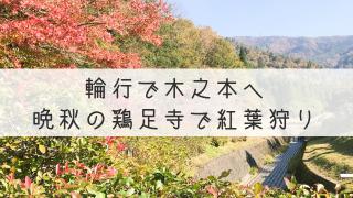 輪行で鶏足寺2018
