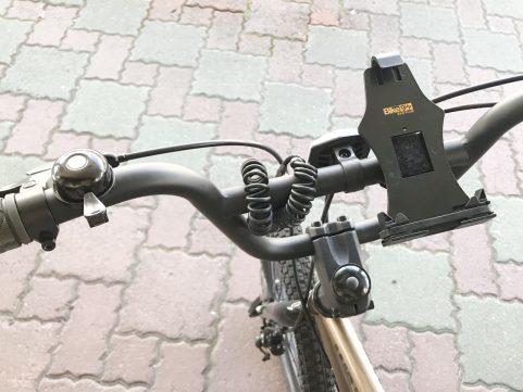 自転車で位置ゲー スマホホルダ